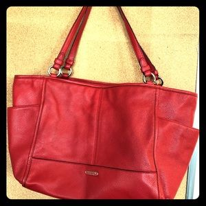 Leather coach tote